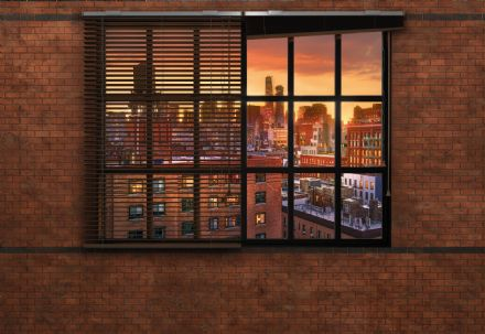 Brooklyn view Brick wallpaper mural